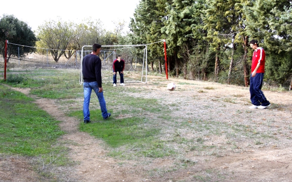 Ποδόσφαιρο στην αυλή